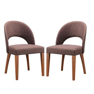 Set of 2 Lucas Mid-Century Style Walnut Dining Chair