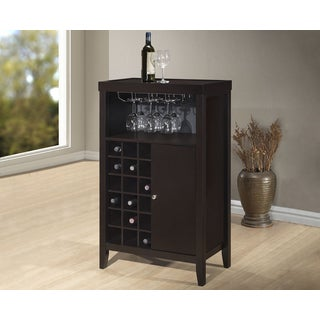 Baxton Studio Bernard Contemporary Dark Brown Bar Cabinet