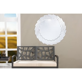Baxton Studio Bonham Contemporary Round Accent Wall Mirror