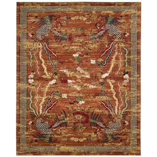 Barclay Butera Dynasty Imperial Persimmon Area Rug by Nourison (7'9 x 9'9)