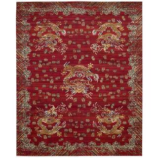 Barclay Butera Dynasty Emperor Oxblood Area Rug by Nourison (5'6 x 8')