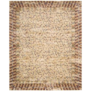 Barclay Butera Dynasty Lotus Ochre Area Rug by Nourison (5'6 x 8')
