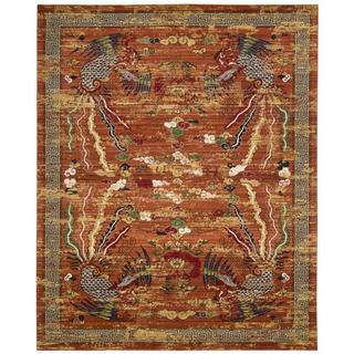 Barclay Butera Dynasty Imperial Persimmon Area Rug by Nourison (5'6 x 8')