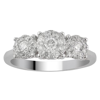 10k White Gold 1ct TDW Diamond Unity Ring (H-I, I2-I3)