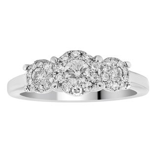 14k White Gold 1/2ct TDW Diamond Unity Ring (H-I, I2-I3)