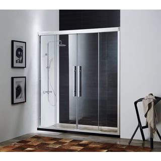 Paragon Bath CLARITY Soft Closing Premium 8 mm Thick Clear Tempered Glass 59 x 72-inch Shower Door