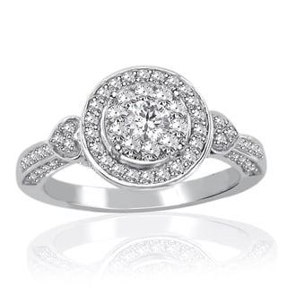 14k White Gold 3/4ct TDW Diamond Unity Ring (H-I, I2-I3)