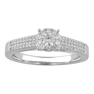14k White Gold 2/5ct TDW Diamond Unity Ring (H-I, I2-I3)