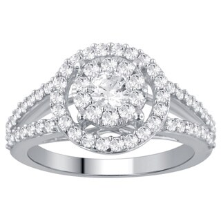 Divina 14k White Gold 1ct TDW Diamond Unity Ring (H-I, I2-I3)