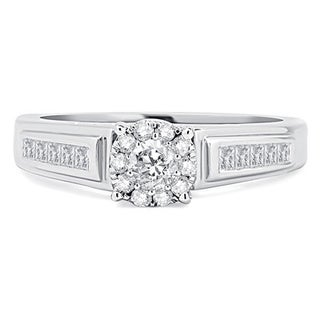 14k White Gold 1/2ct TDW Diamond Solitaire Unity Ring (H-I, I2-I3)
