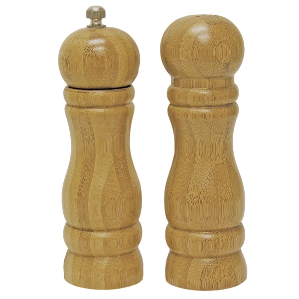 KitchenWorthy Bamboo Salt & Pepper Set