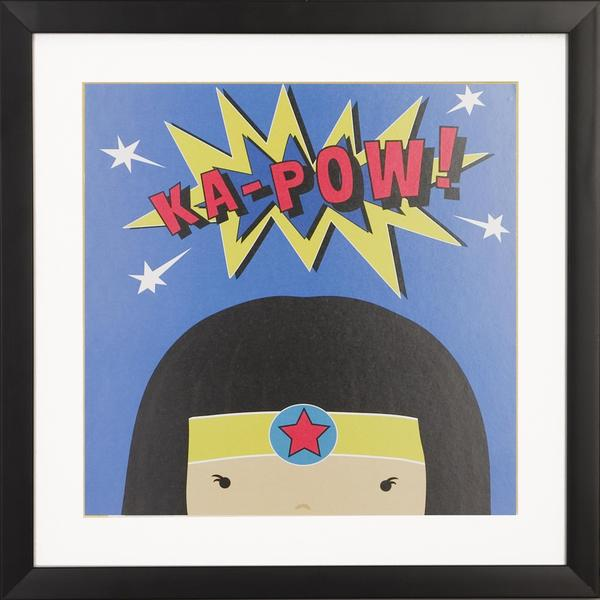 Peek a Boo Supergirl Children's Framed Art Print