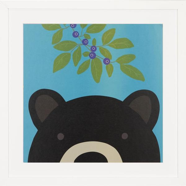 Peek a Boo Bear Children's Framed Art Print