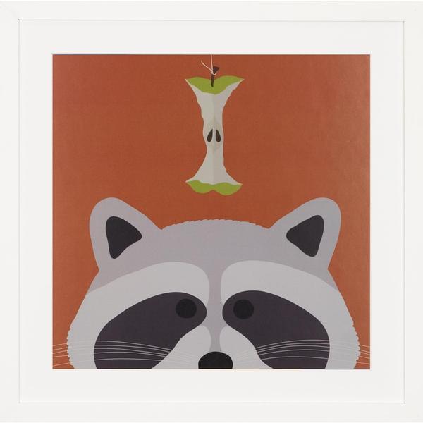Peek a Boo Raccoon Children's Framed Art Print