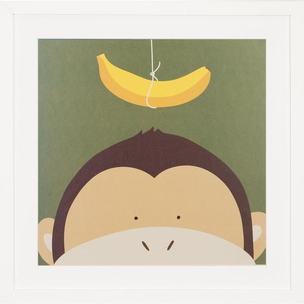 Peek a Boo Monkey Children's Framed Art Print
