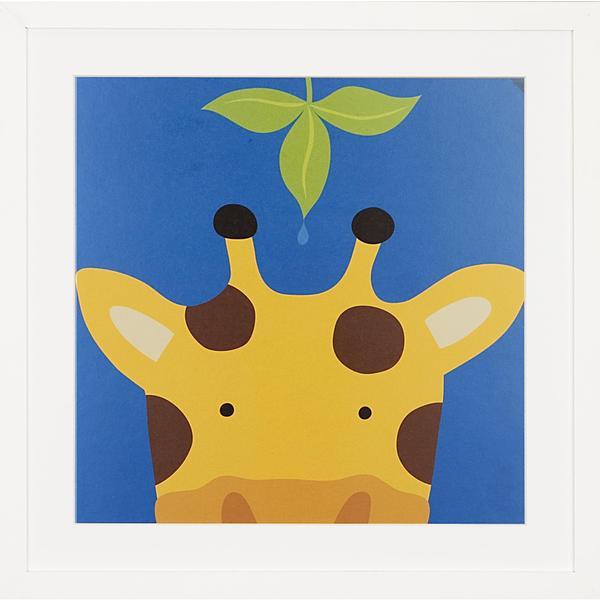 Peek a Boo Giraffe Children's Framed Art Print