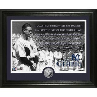 "Lou Gehrig ""Speech"" Silver Coin Photo Mint"