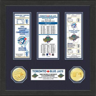 Toronto Blue Jays 1992 World Series Champions Ticket Collection