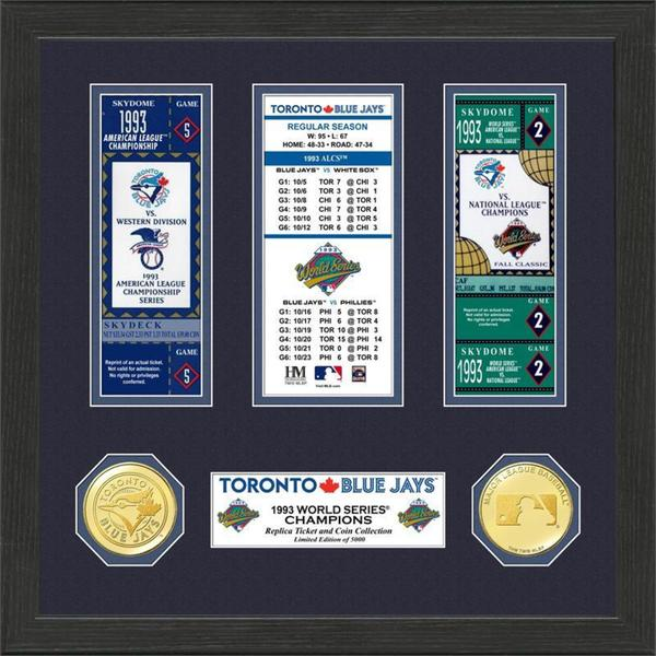 Toronto Blue Jays 1993 World Series Champions Ticket Collection