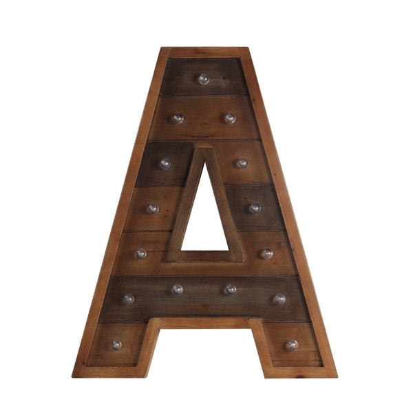 A Wooden Letter board