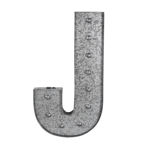 J Metal Letter board