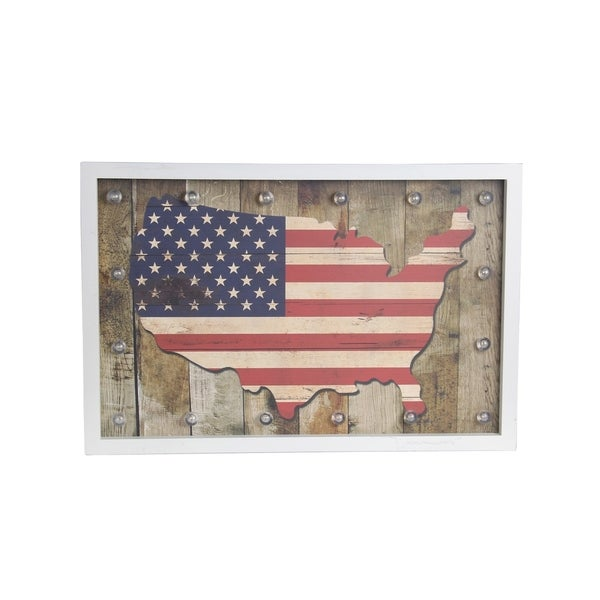 USA Vintage Inspired Wooden Wall Decor