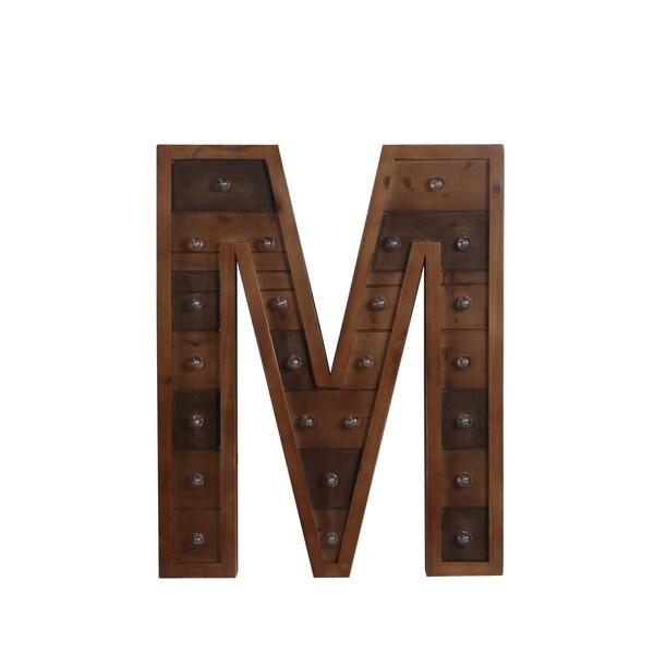 M Wooden Letter Board