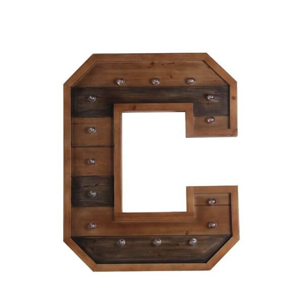 C Wooden Letter Board