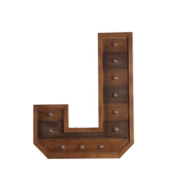 J Wooden Letter Board