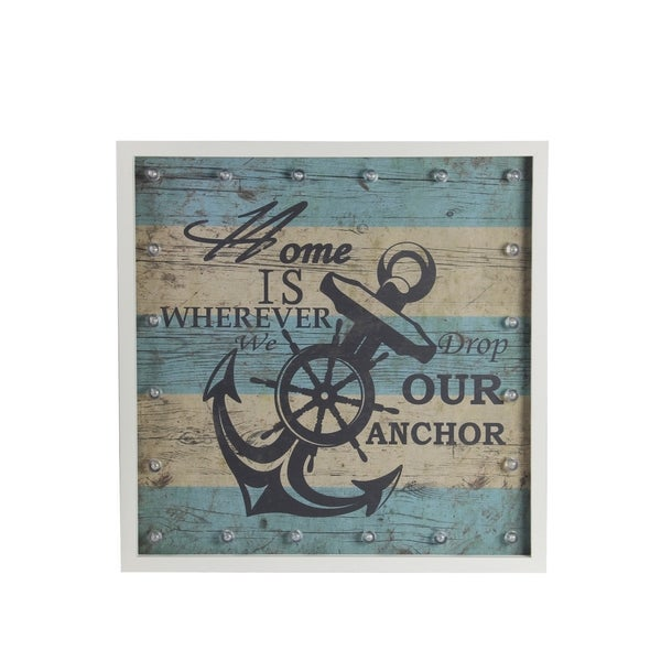 Anchor Nautical Striped Wall Dcor