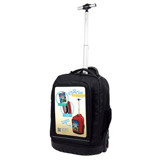 Selfie Club 18-inch Rolling Backpack with Personalized Front Pocket