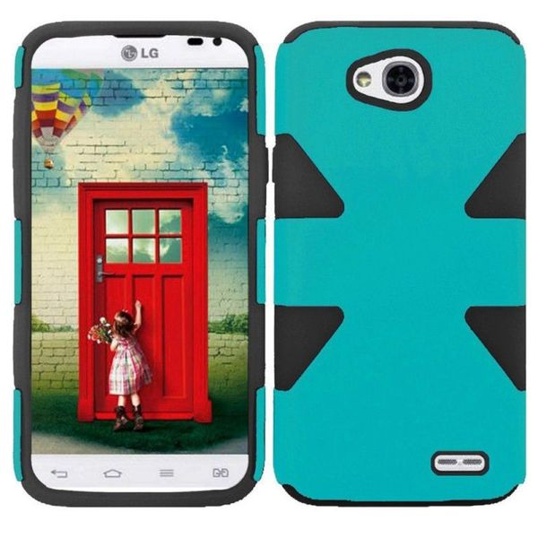Insten Hard PC/ Silicone Dual Layer Hybrid Phone Case Cover For LG Optimus Exceed 2 VS450PP Verizon/ Realm/ Ultimate 2