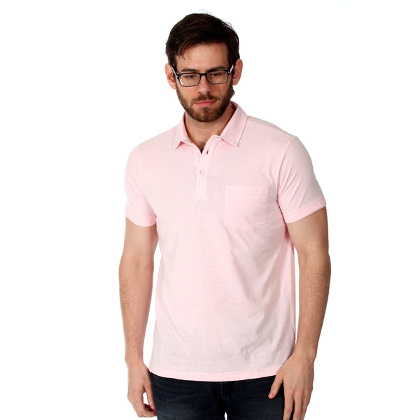 Filthy Etiquette Men's Basic Pink Polo Shirt