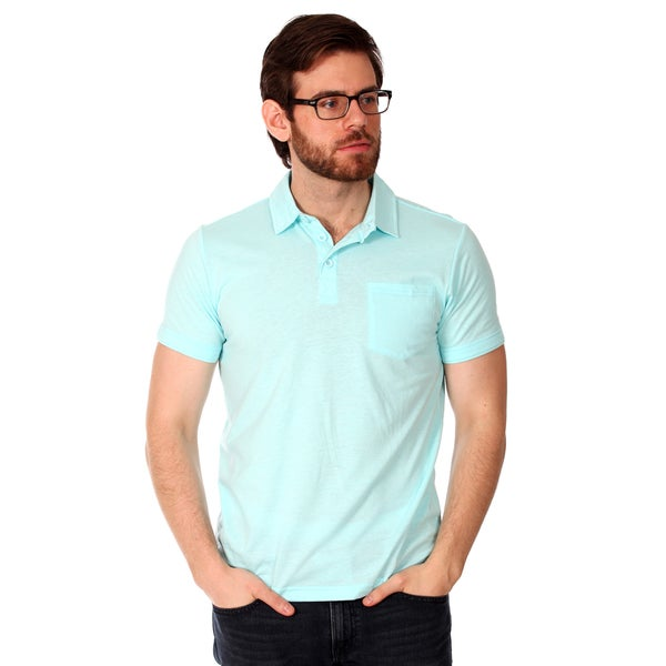 Filthy Etiquette Men's Basic Blue Polo Shirt
