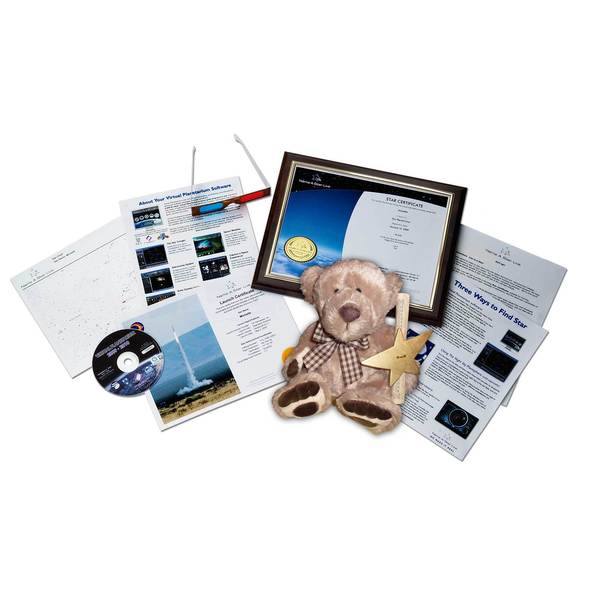 Star Legacy's Name A Star Live - Ultimate Romantic Gift Set w/Teddy Bear
