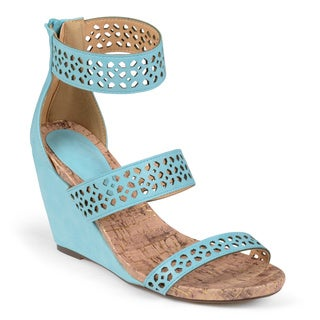 Journee Collection Women's 'Padma' Ankle Strap Wedge Sandals