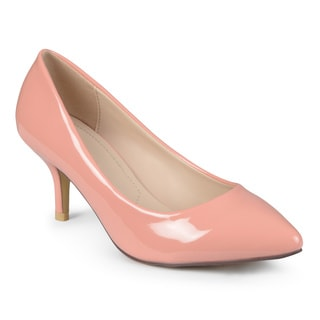 Journee Collection Women's 'Cedrus' Pointed Toe Patent Pumps
