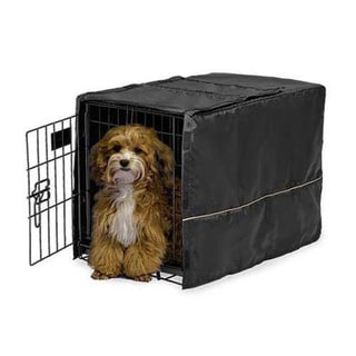 Midwest Quiet Time Pet Crate Cover Black