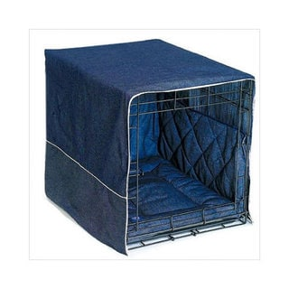 Pet Dreams Classic Cratewear Dog Crate Cover Denim