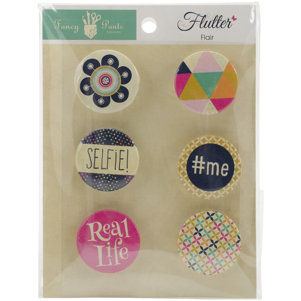 Flutter Flair Embellishments 6/Pkg