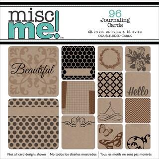 Misc Me Pocket Squares Journaling Cards 96/PkgKraft