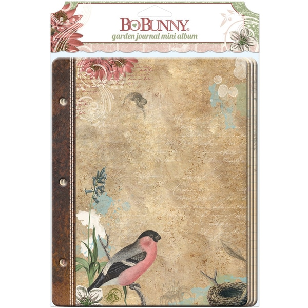 Garden Journal Mini Album 3.75inX5.5in