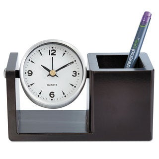 Universal One Executive Brushed Nickel Desk Clock