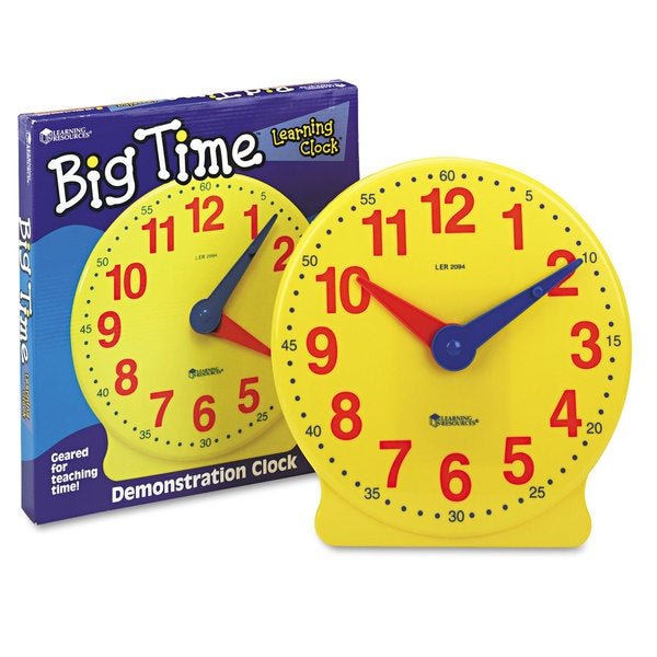 Learning Resources Big Time Learning Clocks 12-Hour Demonstration Clock for Grades K-4