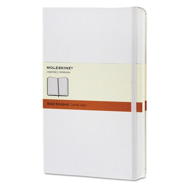 Moleskine White Cover Ruled Classic Notebook