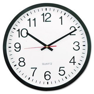 Universal Black Round Wall Clock