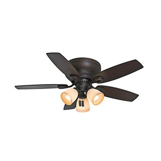 Casablanca 44-inch Durant Low Profile Brushed Nickel Reversible Blade Ceiling Fan