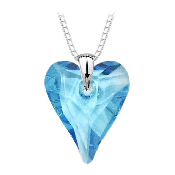 Sterling Silver Crystal Wild Heart Necklace