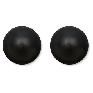 14k Gold Black Onyx Ball Stud Earrings