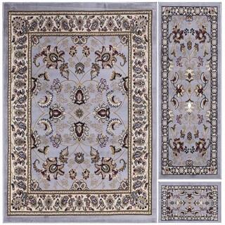 Ottomanson Paterson Collection Grey Oriental 3-Piece Area Rug Set